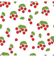 rose hip flat seamless pattern on white vector image vector image