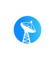 satellite dish big antenna icon vector image vector image