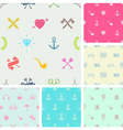 Set of hipster style seamless background vector image vector image
