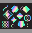 set of universal holographic vector image
