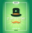 st patricks day luck irish poster design vector image vector image