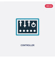 two color controller icon from industry concept vector image vector image