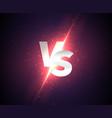 versus shine background vector image vector image