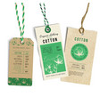 vintage style tags vector image