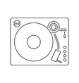 vinyl player icon vector image vector image