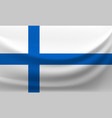 waving national flag of finland vector image vector image