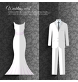 wedding beautiful suits clothing ornamental style vector image