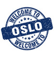 welcome to oslo vector image vector image