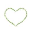 White Jasmine Flowers in Heart Shape Frame vector image vector image