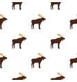 wild elk pattern seamless vector image