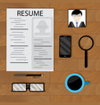 write cv with photo vector image vector image