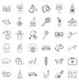 zoo icons set outline style vector image vector image