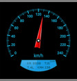 black speedometer with blue scale vector image