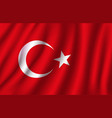 3d flag of turkey turkish national symbol vector image vector image