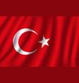 3d flag turkey turkish national symbol vector image