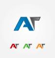 a an t mix logo vector image vector image