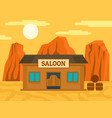 american western saloon concept background flat vector image vector image