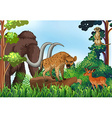 Animal and jungle vector image vector image