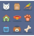 Animal veterynary pet treatment icons set vector image