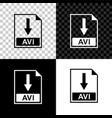 avi file document icon download avi button icon vector image vector image