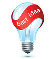 best idea icon vector image vector image