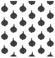 black seamless pattern sketch garlic vector image vector image