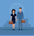 business couple teamwork vector image vector image