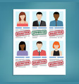 candidate selection for work vector image vector image