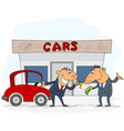 car selling scene vector image