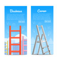 career ladders realistic banners vector image