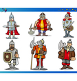 Cartoon Fantasy Knights Characters Set vector image vector image