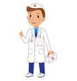 cartoon kid doctor character character vector image vector image