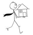 cartoon of businessman investor or realtor vector image vector image