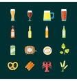 Colorful Drinking Beer Set vector image vector image