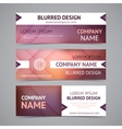 company banners with blurred backgrounds vector image vector image