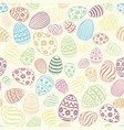 easter egg seamless pattern holiday background vector image vector image