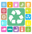 eco energy icons set vector image vector image