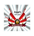 egypt revolution day with national vector image vector image