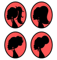 elegant hairstyles vector image