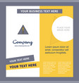 error company brochure template busienss template vector image vector image