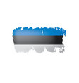 estonia flag on a white vector image vector image
