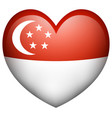 flag icon design for singapore vector image vector image