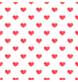 Flat design cute red hearts seamless pattern vector image vector image
