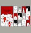 funny white bears family design calendar 2018 vector image vector image