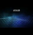 futuristic hexagon vector image vector image