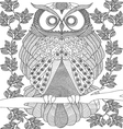 hand drawn animal coloring page vector image vector image