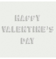 Happy Valentines Day white stylish card design vector image