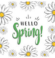 hello spring floral poster vector image vector image