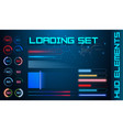 hud futuristic element loading bars set vector image