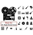 icon set Music vector image vector image